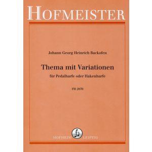 Johann Georg Heinrich Backofen: Thema mit Variationen