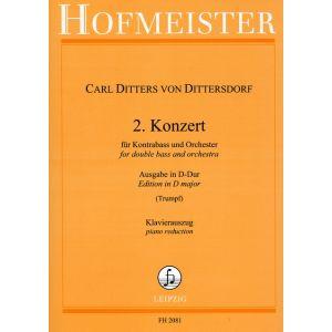 Carl Ditters von Dittersdorf: 2. Konzert für Kontrabass und Orchester  / KlA.