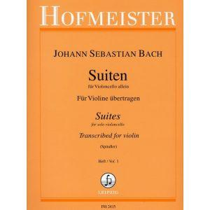 Suiten für Violoncello allein, Heft 1 (für Violine übertragen)