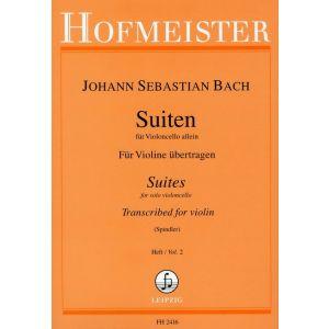 Suiten für Violoncello allein, Heft 2 (für Violine übertragen)