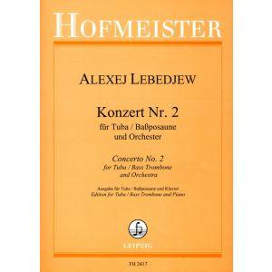 Konzert Nr. 2 für Tuba / Baßposaune und Orchester / KlA.