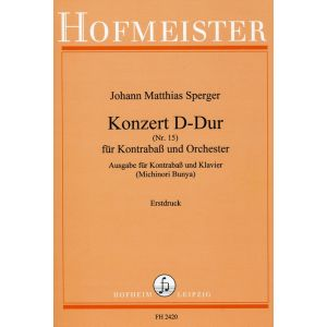 Konzert (Nr.15) D-Dur für Kontrabaß und Orchester / KlA.