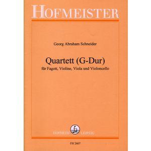 Georg Abraham Schneider: Quartett (G-Dur)