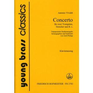 Antonio Vivaldi: Concerto für 2 Trompeten und Streichorchester /  KlA.