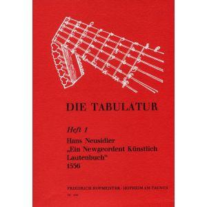 Hans Neusidler: Ein Newgeordent Künstlich Lautenbuch, 1536,
