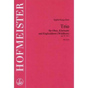 Sigfrid Karg-Elert: Trio, op. 49, Nr. 1 / Stimmensatz