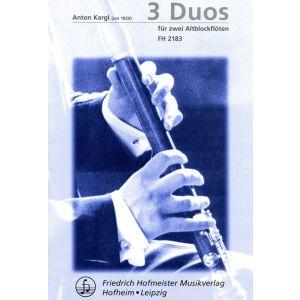 Anton Kargl: 3 Duos