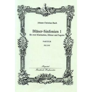 Johann Christian Bach: Bläser-Sinfonien 1-3 / Partitur