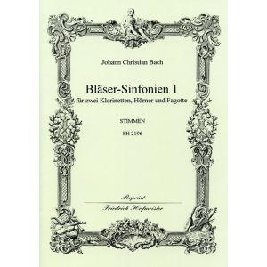 Johann Christian Bach: Bläser-Sinfonien 1-3 / Stimmen