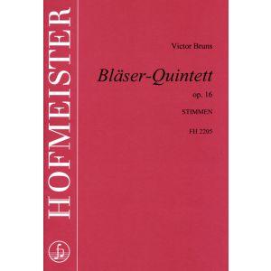 Victor Bruns: Bläserquintett op. 16 / Stimmen
