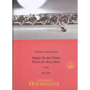 Christian Ludwig Dietter: Stücke für 3 Flöten