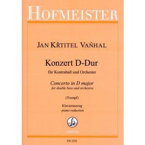 Jan Krtitel Vanhal: Konzert für Kontrabaß und Orchester D-Dur / KlA