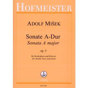 Adolf Misek: Sonate A-Dur für Kontrabaß und Klavier, op. 5