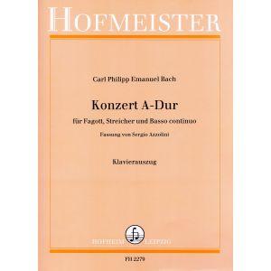Carl Philipp Emanuel Bach: Konzert A-Dur / KlA