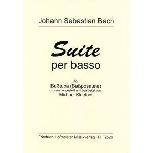 Johann Sebastian Bach: Suite per basso