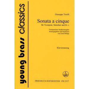 Giuseppe Torelli: Sonata a cinque für Trompete, Streicher und B.c. / KlA.