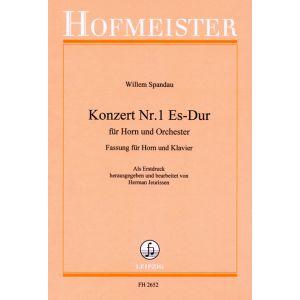 Willem Spandau: Konzert Nr. 1 Es-Dur für Horn und Orchester / KlA