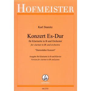 Karl Stamitz: Konzert für Klarinette und Orchester Es-Dur (Darmstädter Konzert) / KlA
