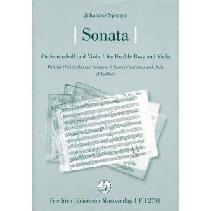 Johann Matthias Sperger: Sonata für Kontrabaß und Viola (Meier CI /6)