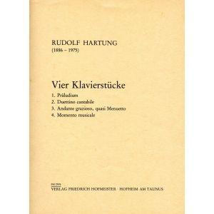 Rudolf Hartung: 4 Klavierstücke
