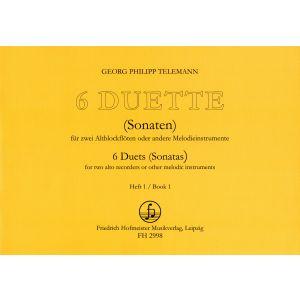 Georg Philipp Telemann: 6 Duette, Heft 1 (Sonaten 1-3)