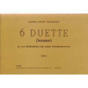 Georg Philipp Telemann: 6 Duette, Heft 2 (Sonaten 4-6)