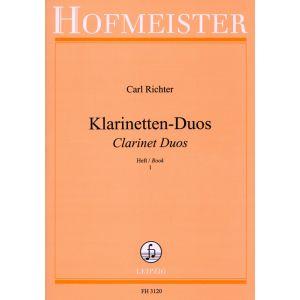 Carl Richter: Klarinettenduos, Heft 1