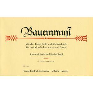 Raimund Zoder / Rudolf Preiß: Bauernmusi (Git. Partitur) (2. Folge)