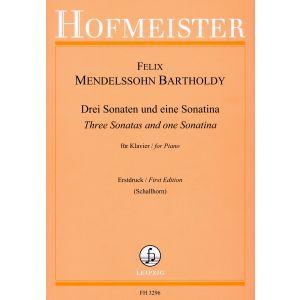 Drei Sonaten und eine Sonatine (Erstdruck - First Edition)