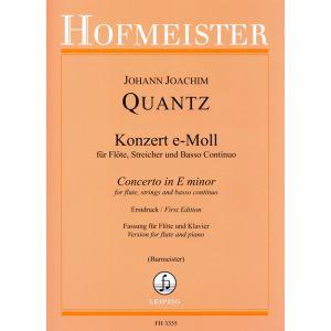 Konzert e-Moll für Flöte, Streicher und B. c. QV5:113 / KlA