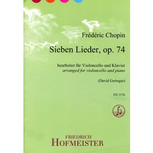 Frédéric Chopin: Sieben Lieder, op. 74