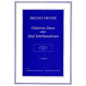 Bruno Henze: Das Gitarrespiel, Heft 13: Gitarren-Duos aus fünf Jahrhunderten