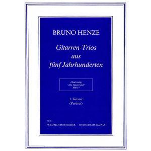 Bruno Henze: Das Gitarrespiel, Heft 14: Gitarren-Trios aus fünf Jahrhunderten