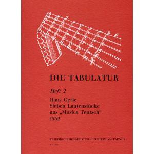 Hans Gerle: 7 Lautenstücke aus
