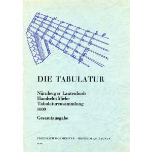 Nürnberger Lautenbuch, Handschriftliche Tabulaturensammlung um 1600