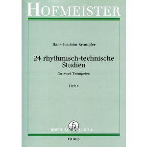 Hans-Joachim Krumpfer: 24 rhythmisch-technische Studien, Heft 1