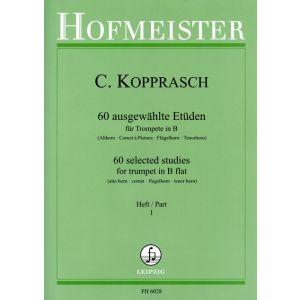 C. Kopprasch: 60 ausgewählte Etüden für Trompete in B, Heft 1