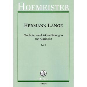 Hermann Lange: Tonleiter- und Akkordübungen für Klarinette - Teil 1