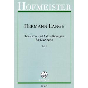 Hermann Lange: Tonleiter- und Akkordübungen für Klarinette - Teil 2