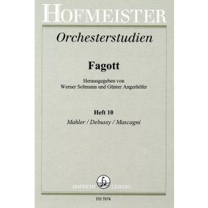 Orchesterstudien für Fagott, Heft 10 (Seltmann / Angerhöfer)