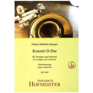 Johann Matthias Sperger: Konzert D-Dur für Trompete und Orchester / KlA.