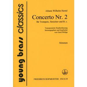 Johann Wilhelm Hertel: Concerto Nr. 2 / Stimmen