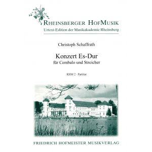 Christoph Schaffrath: Konzert Es-Dur / Part.