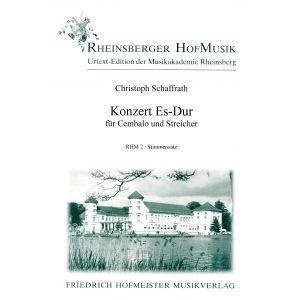 Christoph Schaffrath: Konzert Es-Dur / Sts